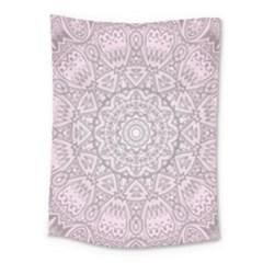 Pink Mandala art  Medium Tapestry