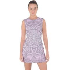 Pink Mandala art  Lace Up Front Bodycon Dress