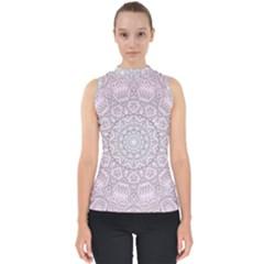 Pink Mandala art  Shell Top