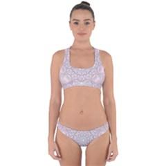 Pink Mandala art  Cross Back Hipster Bikini Set