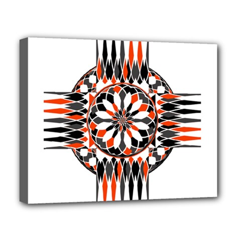Geometric Celtic Cross Deluxe Canvas 20  X 16   by linceazul