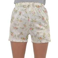 Floral Paper Pink Girly Cute Pattern  Sleepwear Shorts