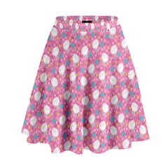 Cute Cats Iii High Waist Skirt by tarastyle