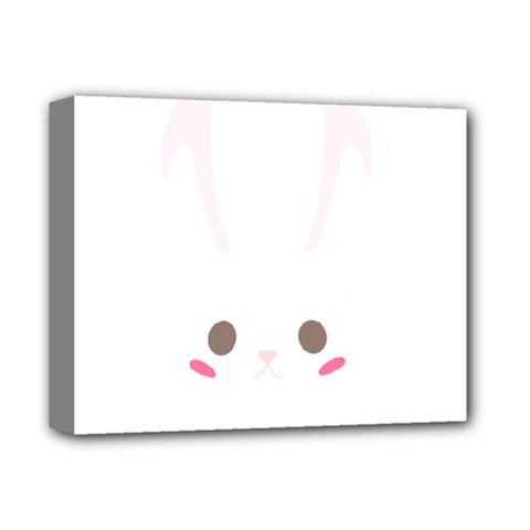 Rabbit Cute Animal White Deluxe Canvas 14  X 11  by Nexatart