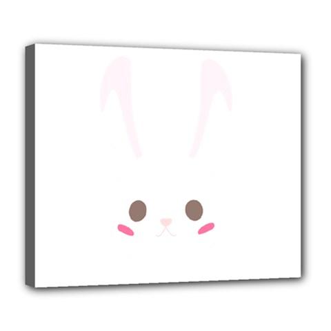 Rabbit Cute Animal White Deluxe Canvas 24  X 20