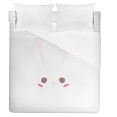 Rabbit Cute Animal White Duvet Cover (queen Size)