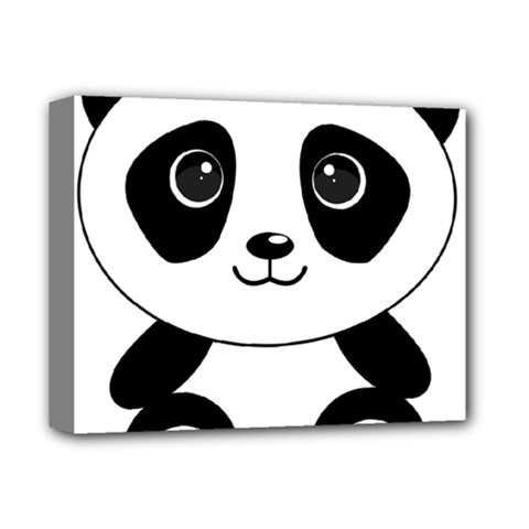 Bear Panda Bear Panda Animals Deluxe Canvas 14  X 11  by Nexatart