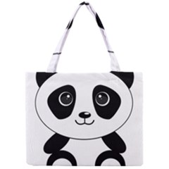 Bear Panda Bear Panda Animals Mini Tote Bag by Nexatart