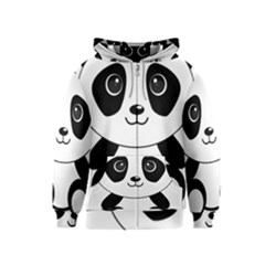 Bear Panda Bear Panda Animals Kids  Zipper Hoodie
