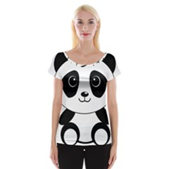Bear Panda Bear Panda Animals Cap Sleeve Tops