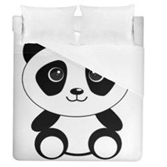 Bear Panda Bear Panda Animals Duvet Cover (queen Size) by Nexatart