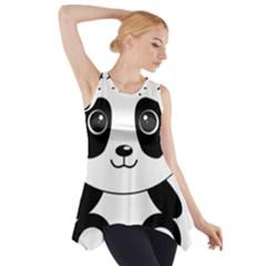 Bear Panda Bear Panda Animals Side Drop Tank Tunic