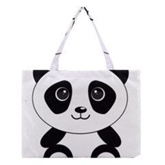 Bear Panda Bear Panda Animals Medium Tote Bag