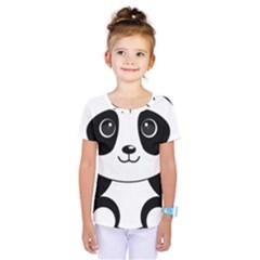 Bear Panda Bear Panda Animals Kids  One Piece Tee