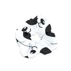 Bear Panda Bear Panda Animals Velvet Scrunchie