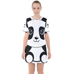 Bear Panda Bear Panda Animals Mini Dress by Nexatart