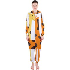 Giraffe Africa Safari Wildlife Hooded Jumpsuit (ladies)