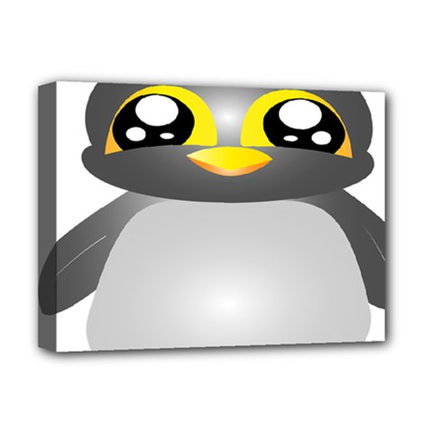 Cute Penguin Animal Deluxe Canvas 16  X 12   by Nexatart