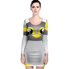 Cute Penguin Animal Long Sleeve Bodycon Dress