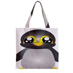 Cute Penguin Animal Zipper Grocery Tote Bag by Nexatart