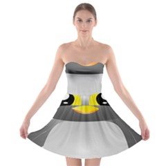 Cute Penguin Animal Strapless Bra Top Dress