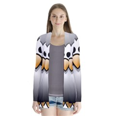 Penguin Birds Aquatic Flightless Drape Collar Cardigan