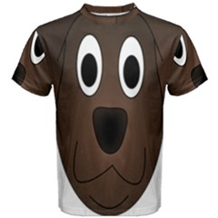 Dog Pup Animal Canine Brown Pet Men s Cotton Tee