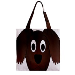 Dog Pup Animal Canine Brown Pet Zipper Grocery Tote Bag by Nexatart