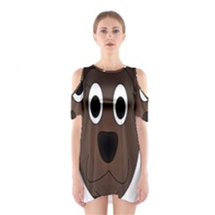 Dog Pup Animal Canine Brown Pet Shoulder Cutout One Piece