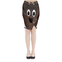 Dog Pup Animal Canine Brown Pet Midi Wrap Pencil Skirt