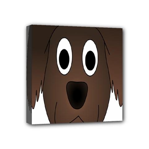 Dog Pup Animal Canine Brown Pet Mini Canvas 4  X 4