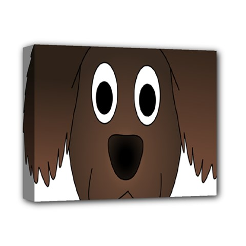 Dog Pup Animal Canine Brown Pet Deluxe Canvas 14  X 11