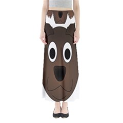 Dog Pup Animal Canine Brown Pet Full Length Maxi Skirt