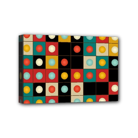 Colors On Black Mini Canvas 6  X 4  by linceazul