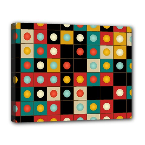 Colors On Black Canvas 14  X 11  by linceazul