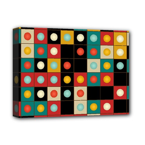 Colors On Black Deluxe Canvas 16  X 12   by linceazul