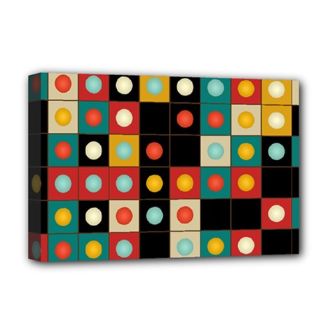 Colors On Black Deluxe Canvas 18  X 12   by linceazul