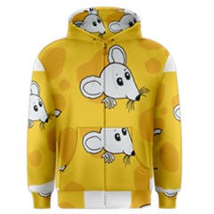 Rat Mouse Cheese Animal Mammal Men s Zipper Hoodie