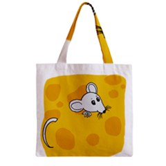 Rat Mouse Cheese Animal Mammal Zipper Grocery Tote Bag