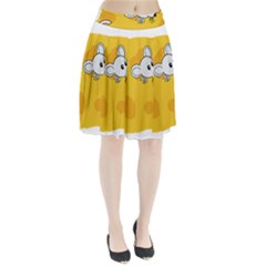 Rat Mouse Cheese Animal Mammal Pleated Skirt