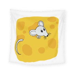 Rat Mouse Cheese Animal Mammal Square Tapestry (small)