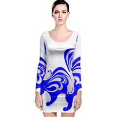 Skunk Animal Still From Long Sleeve Bodycon Dress