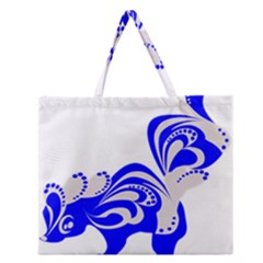 Skunk Animal Still From Zipper Large Tote Bag