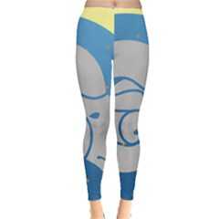 Ram Zodiac Sign Zodiac Moon Star Leggings  by Nexatart
