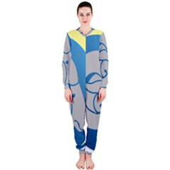 Ram Zodiac Sign Zodiac Moon Star Onepiece Jumpsuit (ladies)