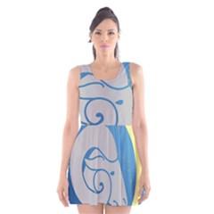 Ram Zodiac Sign Zodiac Moon Star Scoop Neck Skater Dress