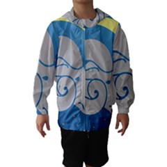 Ram Zodiac Sign Zodiac Moon Star Hooded Wind Breaker (kids)