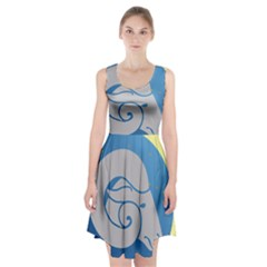 Ram Zodiac Sign Zodiac Moon Star Racerback Midi Dress