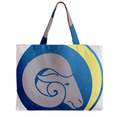 Ram Zodiac Sign Zodiac Moon Star Medium Tote Bag