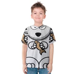 Bear Polar Bear Arctic Fish Mammal Kids  Cotton Tee